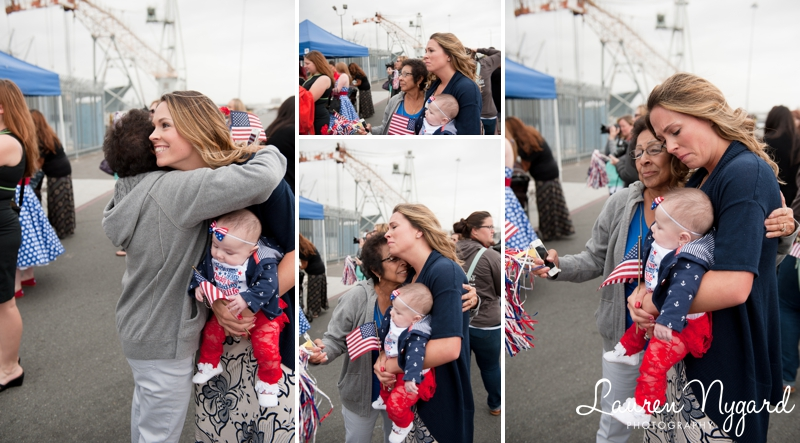 Naval Base San Diego Homecoming Photography by San Diego wedding photographer Lauren Nygard