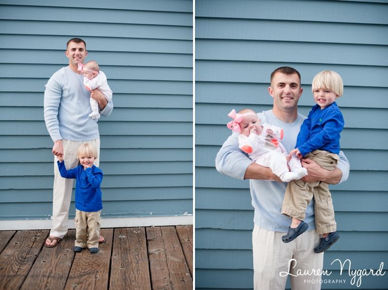 Beach family portrait session by San Diego wedding photographer Lauren Nygard