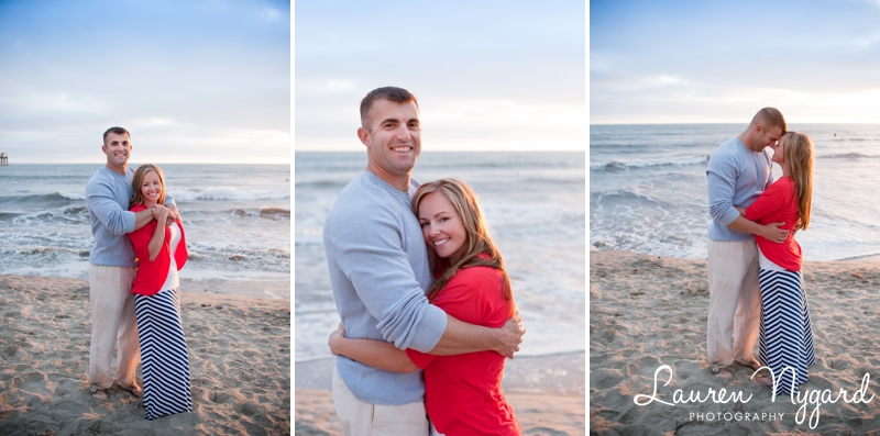 Beach family portrait session by San Diego wedding photographer Lauren Nygard