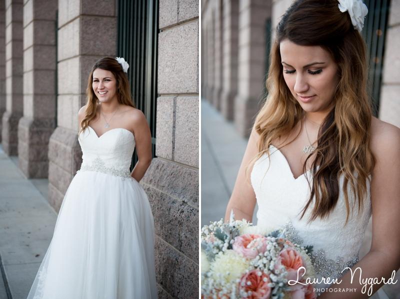 Rangers Stadium Bridal Portraits at the Ballpark at Arlington by wedding photographer Lauren Nygard Photography