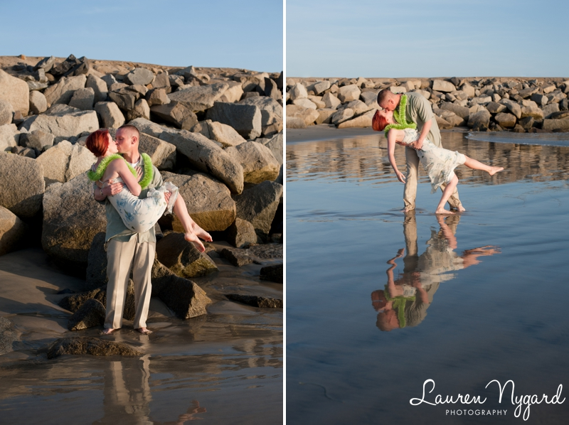 Ten-year wedding anniversary session on the beach by San Diego wedding photographer Lauren Nygard