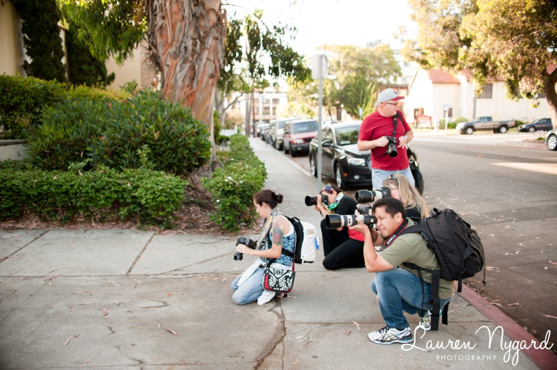 San Diego Shooting Group photography workshop by San Diego wedding photographer Lauren Nygard
