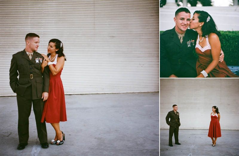 Vintage Military couple's session on film from San Diego wedding photographer Lauren Nygard