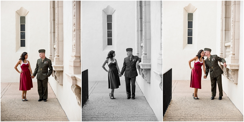 Vintage Military couple's session from San Diego wedding photographer Lauren Nygard