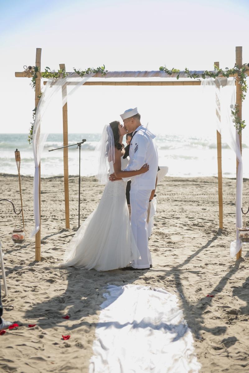San Diego beach wedding photography from Oceanside wedding photographer Lauren Nygard