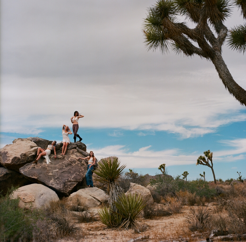 Film portrait photography at Joshua Tree National Park by San Diego wedding photographer Lauren Nygard