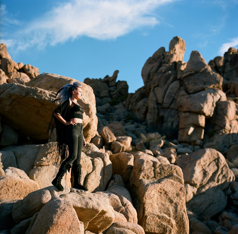 Film editorial photography at Joshua Tree National Park by San Diego wedding photographer Lauren Nygard