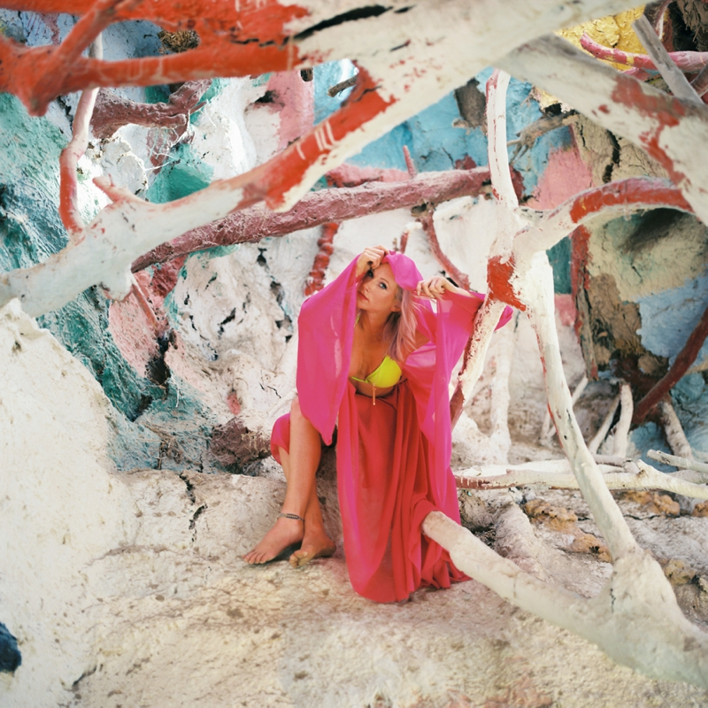 Film fashion photography at Salvation Mountain by San Diego wedding photographer Lauren Nygard