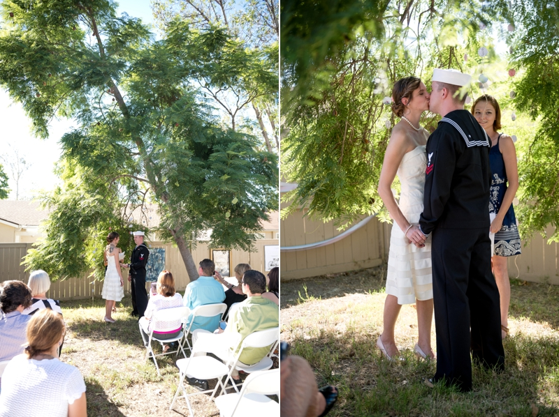 Backyard wedding from San Diego wedding photographer Lauren Nygard