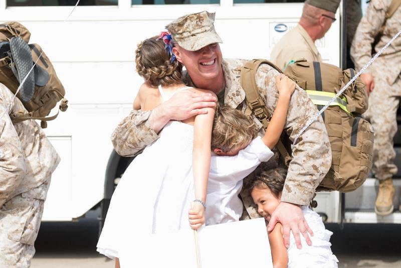 Marine Corps Homecoming photography by San Diego wedding photographer Lauren Nygard