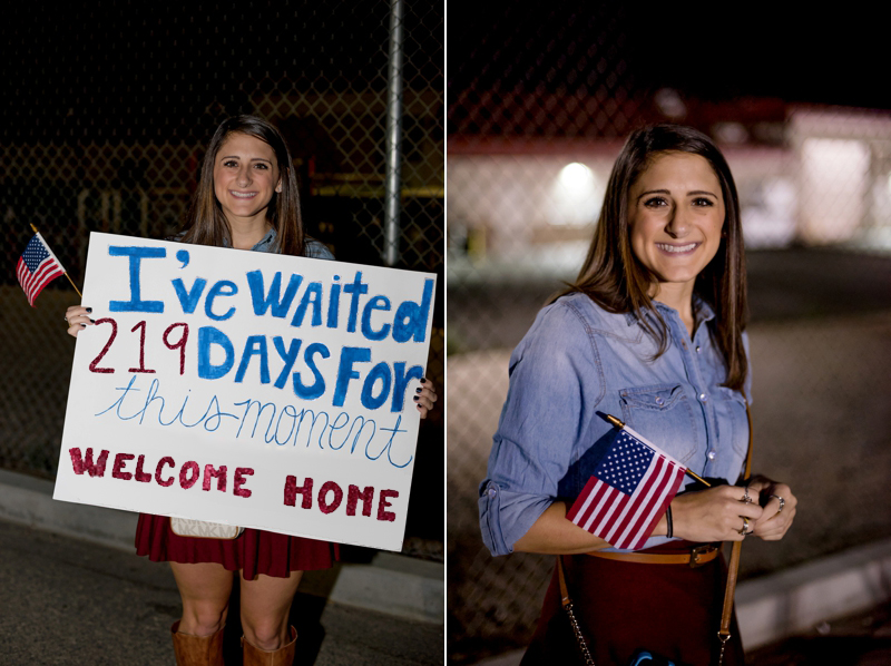 Camp Pendleton Marine Corps homecoming photography by San Diego portrait photographer Lauren Nygard