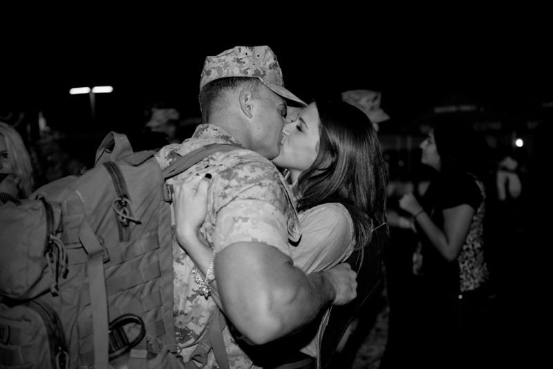 Camp Pendleton Marine Corps welcome home photography by San Diego wedding photographer Lauren Nygard