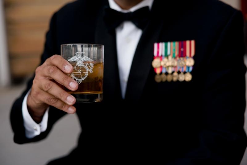 USMC Birthday Ball portrait photography by San Diego wedding photographer Lauren Nygard
