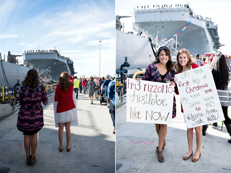 Navy Homecoming photography at Naval Base San Diego from San Diego wedding photographer Lauren Nygard