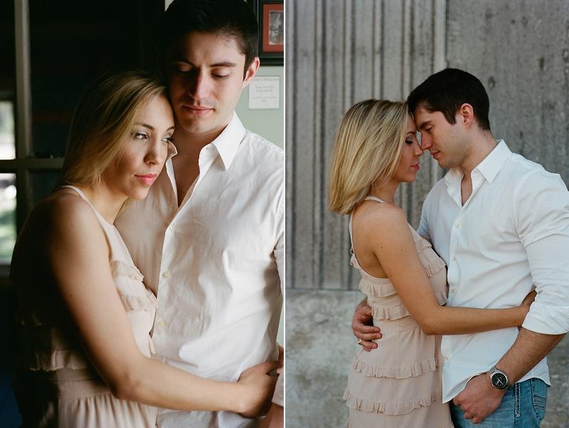 San Antonio Texas engagement photography session on film from San Diego wedding photographer Lauren Nygard