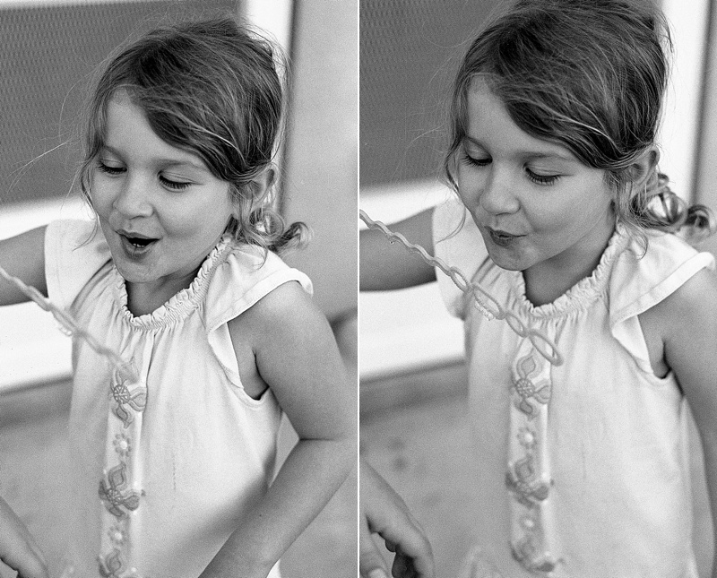 Family lifestyle session on black and white film from San Diego photographer Lauren Nygard