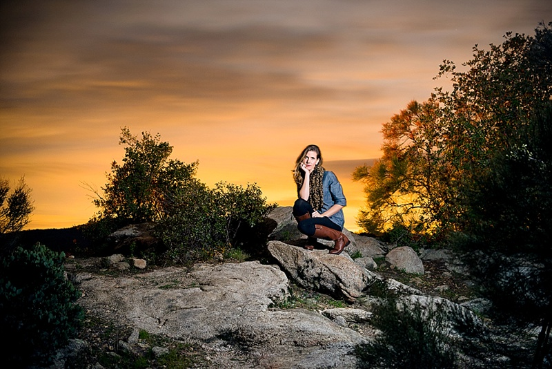 Night time portrait photography from San Diego photographer Lauren Nygard