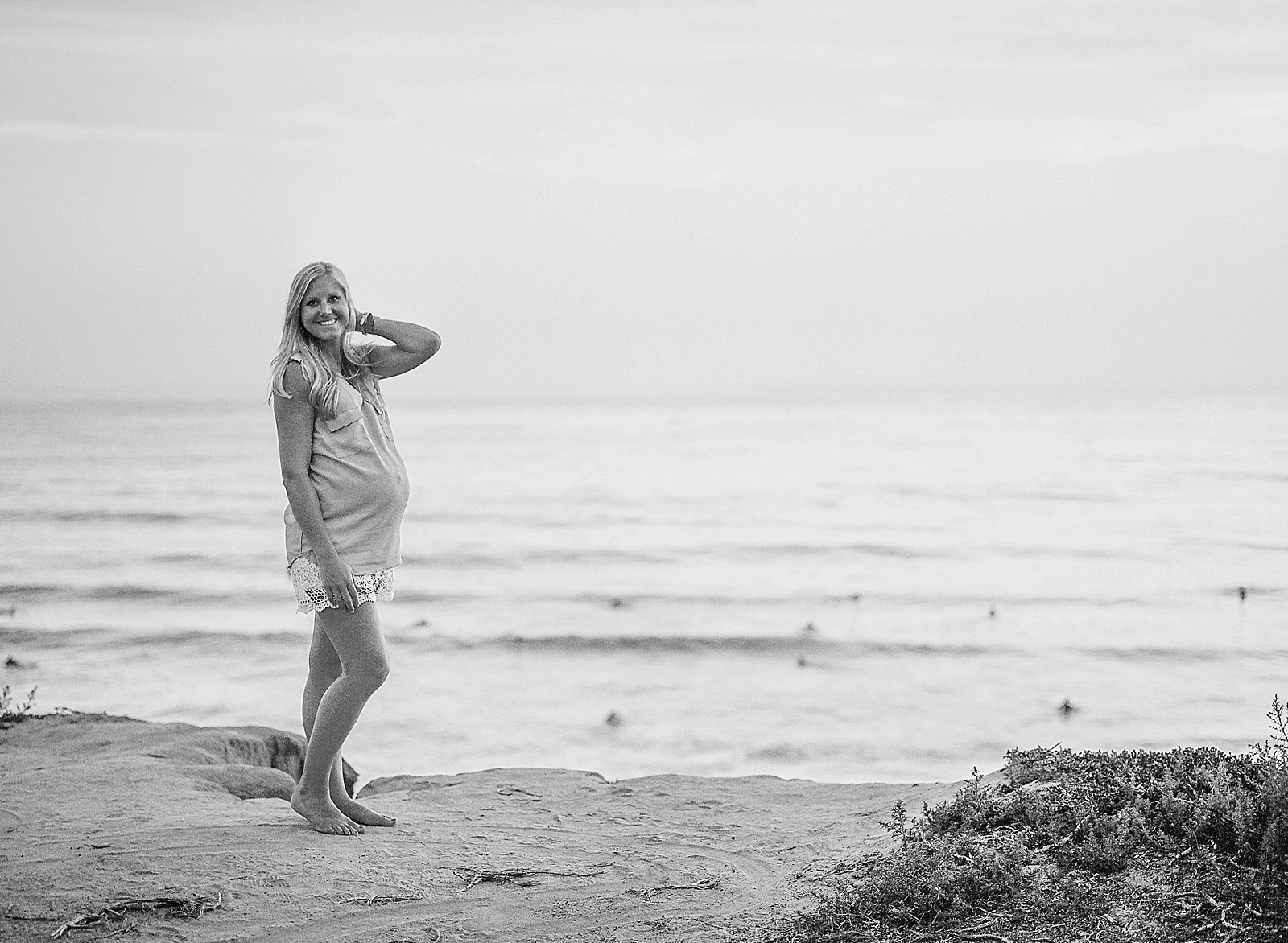Carlsbad Beach Maternity Portrait Session