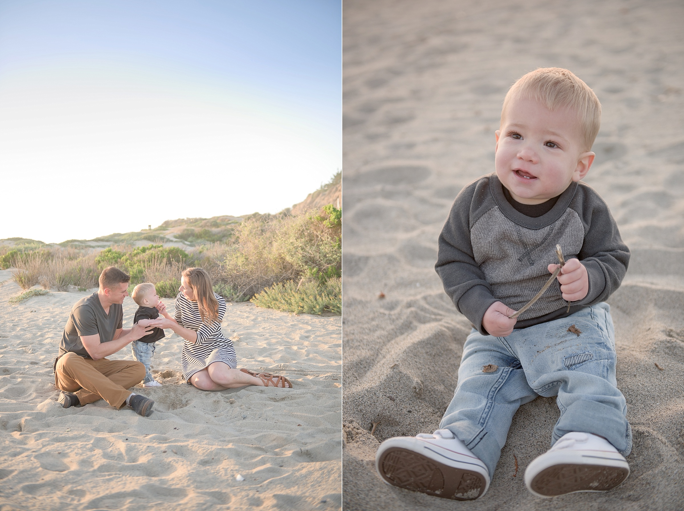 Portrait Session on the beach by North Carolina family photographer Lauren Nygard