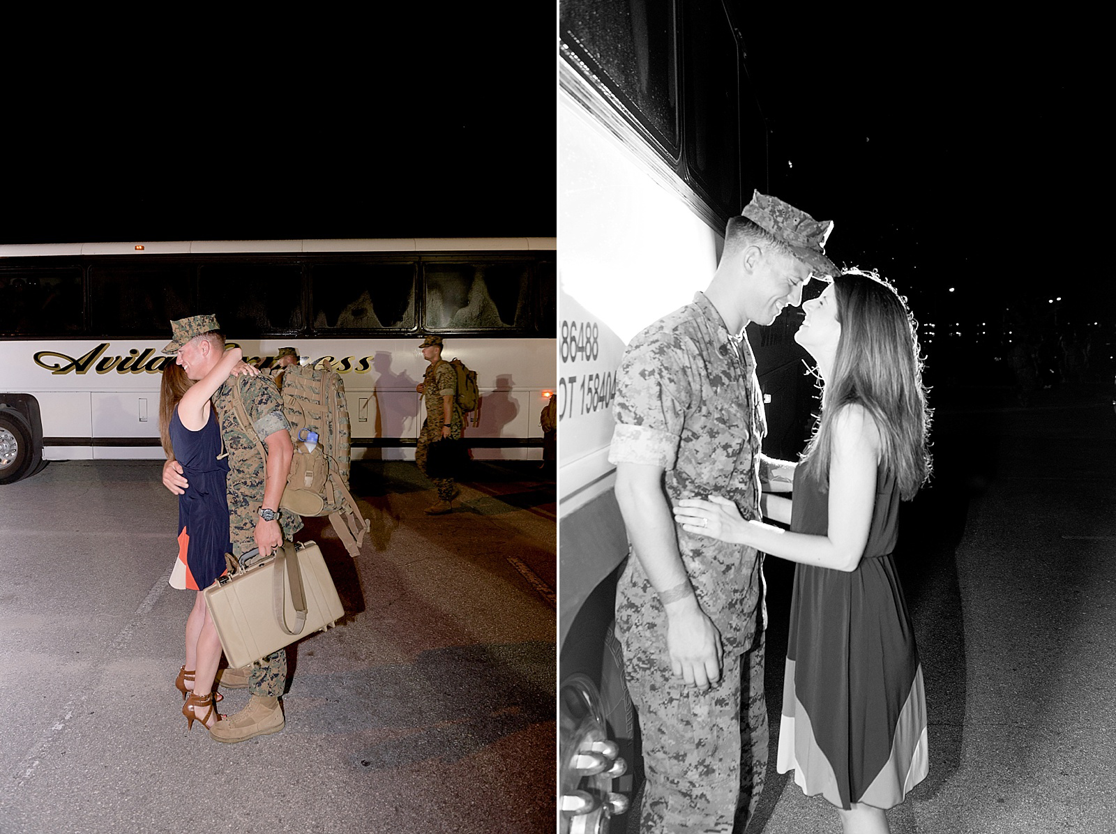 Marine Corps homecoming photography at Camp Lejeune from North Carolina portrait photographer Lauren Nygard
